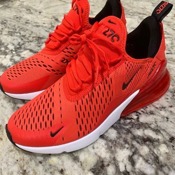 premium selection c6a4e e102d Nike Air Max 270 (GS) Habanero Red 7Y Womens 8.5
